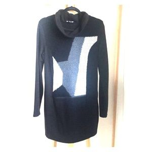 FREE in bundle✨Mixed Material Sweater Dress Tunic